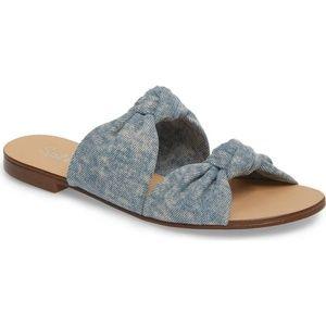 Splendid Light Denim Barton Slides Sandal Size 10